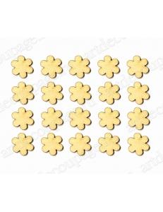 """Декоративные плоские фигурки из фанеры набор """"Цветы"""", 15 мм, 20 шт"""