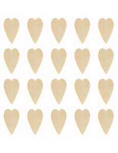 """Декоративные плоские фигурки из фанеры, набор """"Сердечки Тильда"""", 15 мм, 20 шт"""
