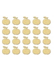 """Декоративные плоские фигурки из фанеры, набор """"Яблоки"""", 15 мм, 20 шт"""