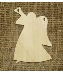 Заготовка фигурка Ангел с дудочкой, фанера, 10х8 см, Woodbox