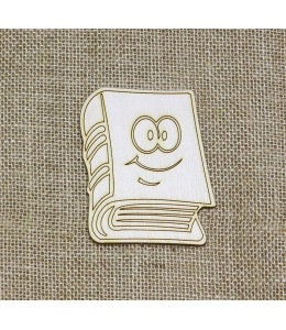 Декоративная плоская фигурка Книга, фанера, 7х10 см, Woodbox