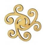 """Плоская фигурки из фанеры """"Декоративный элемент 17"""", размер 5 см"""