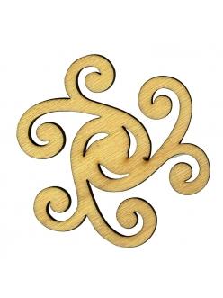 Плоская фигурки из фанеры Декоративный элемент 17, размер 8 см