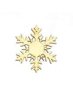 Заготовка фигурка плоская Снежинка 9 из фанеры, 5 см