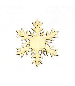 Заготовка фигурка Снежинка КСФ-С-9-05, фанера, 5 см