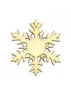 Заготовка фигурка Снежинка 9, фанера, 8 см