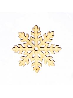 Заготовка фигурка Снежинка 10 из фанеры, 5 см
