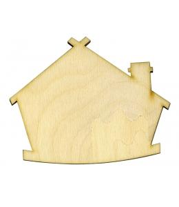 Декоративная плоская фигурка Домик, фанера, 8х10 см, Woodbox