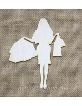Декоративная плоская фигурка Шоппинг 1, фанера, 12х15 см, Woodbox