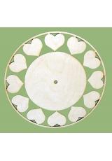 Заготовка для часов Циферблат с сердечками, фанера, 30 см