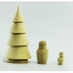 """Заготовка """"Елка-матрешка"""",  3 предмета, дерево, 125х65 мм, Woodbox Россия"""