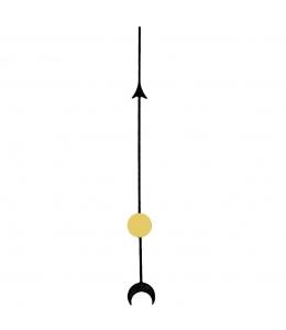 Стрелка секундная для часового механизма YT6036bl, черный металл, 51 мм, Young Town (Гонконг)
