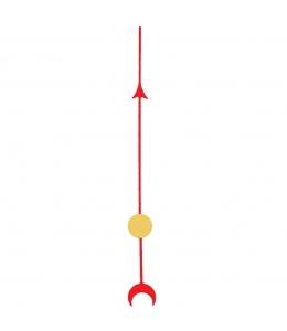 Стрелка секундная для часового механизма YT6036bl, красный металл, 51 мм, Young Town (Гонконг)