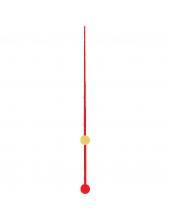 Стрелка секундная для часового механизма YT618red, красный металл, 70 мм, Young Town (Гонконг)