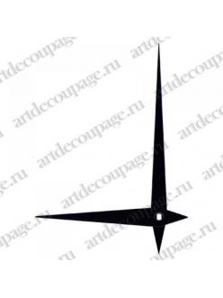 Стрелки для часов черные металлические, 97/70 мм, Hermle (Германия)