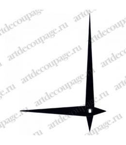 Стрелки для часов черные металлические, 112/80 мм, Hermle (Германия)