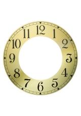 Циферблат металлический с вырезанным внутреним кругом 188х109мм, арабские цифры, Young Town