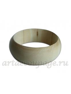 Заготовка браслет круглый деревянный, ширина 30 мм, WOODBOX