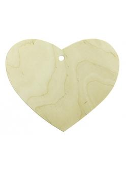 Заготовка для декупажа панно Сердце с отверстием, фанера, 165х150 мм, WOODBOX