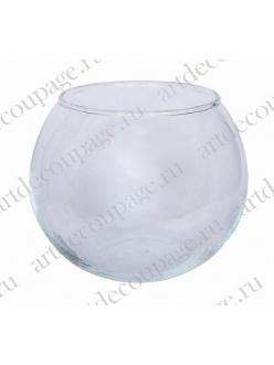 Заготовка вазочка-подсвечник, прозрачное стекло, 8х10 см