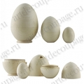 Заготовка яйцо-матрёшка, дерево, 3 шт, WOODBOX