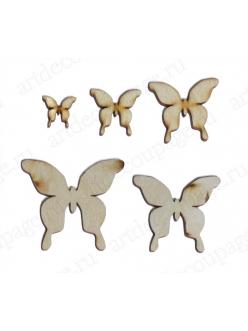Заготовки фигурки из фанеры Бабочки большие, 5 шт, Россия