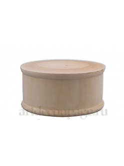 Заготовка шкатулка круглая деревянная, 12х6,5 см, WOODBOX