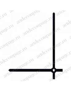Стрелки для часов черные прямые, латунь, 80/68 мм, Hermle (Германия)