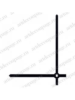 Стрелки для часов черные прямые, латунь, 80/68 мм, Hermle