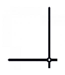 Стрелки для часов черные прямые, металл, 103/80 мм, Hermle (Германия)