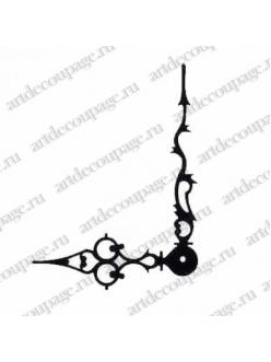 Стрелки для часов черные фигурные, металл 103/72 мм, Hermle Германия
