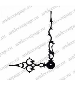 Стрелки для часов черные фигурные, металл 103/72 мм, Hermle (Германия)