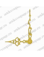 Стрелки для часов золотистые фигурные, металл 103/72 мм, Hermle (Германия)