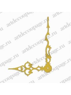 Стрелки для часов золотистые фигурные, металл 103/72 мм, Hermle Германия