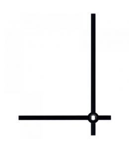 Стрелки для часов черные прямые, классика, металл, 80/60мм, Hermle (Германия)
