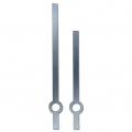 Стрелки для часов серебристые прямые, классика, металл, 80/65мм, Hermle (Германия)