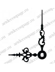 Стрелки для часов черные ажурные, металл, 46/35 мм, Hermle (Германия)