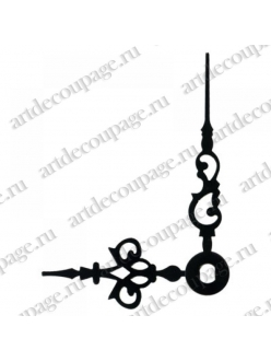 Стрелки для часов черные ажурные, металл, 46/35 мм, Hermle Германия