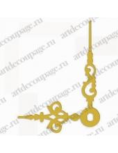 Стрелки для часов золотистые ажурные, металл, 46/35 мм, Hermle (Германия)