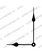 Стрелки для часов черные  классические, металл, 111/80 мм, Hermle (Германия)