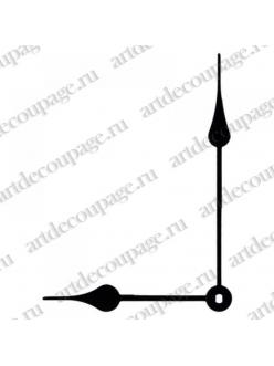 Стрелки для часов черные  классические, металл, 111/80 мм, Hermle Германия