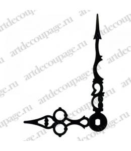 Стрелки для часов черные ажурные, металл 70/47 мм, Hermle (Германия)