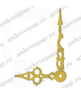 Стрелки для часов золотистые ажурные, металл, 70/47 мм, Hermle (Германия)