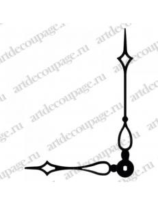 Стрелки для часов черные, современная готика, металл, 115/82 мм, Hermle (Германия)