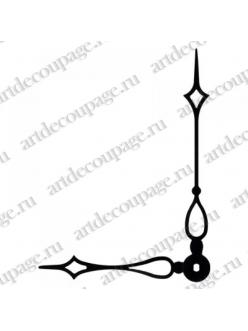 Стрелки для часов черные, современная готика, металл, 115/82 мм, Hermle Германия