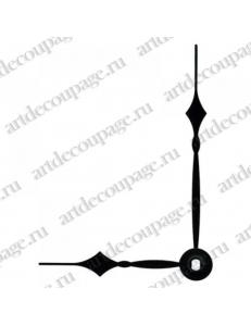Стрелки для часов черные классические, металл, 79/56 мм, Hermle (Германия)