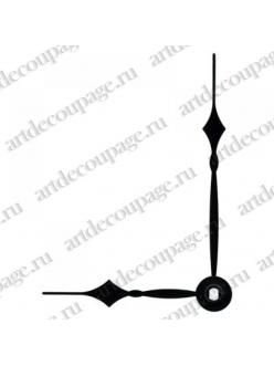 Стрелки для часов черные классические, металл, 79/56 мм, Hermle Германия