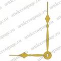Стрелки для часов золотистые классические, металл, 79/56 мм, Hermle (Германия)