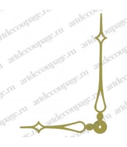 Стрелки для часов золотистые, современная готика, металл, 157/112 мм, Hermle (Германия)