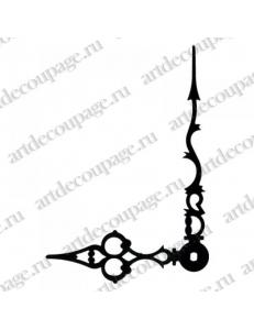 Стрелки для часов черные ажурные, металл, 81/50 мм, Hermle (Германия)